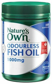 3 PACK OF Natures Own Odourless Fish Oil 1000mg Capsules 200