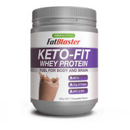 3 PACK OF Naturopathica FatBlaster Keto-Fit Whey Protein Chocolate 300g