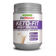 3 PACK OF Naturopathica FatBlaster Keto-Fit Whey Protein Vanilla 300g