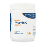 Faulding Remedies Vitamin C 500mg Chewable 500 Tablets