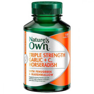 Nature's Own Triple Strength Garlic + C & Horseradish 100 Tablets
