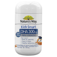 Natures Way Kids Smart Triple Strength DHA 300mg 50 Capsules