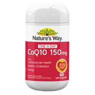 Natures Way One-A-Day Coq10 150mg 60 Soft Capsules