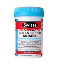 Swisse Ultiboost Green Lipped Mussel 60 Capsules