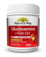 Natures Way Glucosamine + Fish Oil 200 Capsules