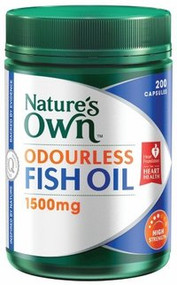Natures Own Odourless Fish Oil 1500mg Capsules 200