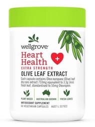 Wellgrove Heart Health Extra Strength Olive Leaf 60 Capsules