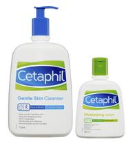 Cetaphil Gentle Skin Cleanser 1 Litre + Moisturising Lotion 250ml