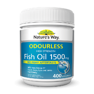 Natures Way Fish Oil True Odourless 1500mg 400 Capsules