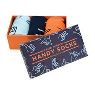 Handy Socks Funky Feet Mixed Box Of 3 (Size 8-11)