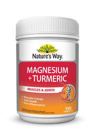 Natures Way Magnesium and Tumeric 150 Tablets