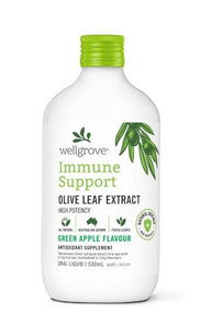 Wellgrove Immune Support Olive Leaf Extract Green Apple 500ml