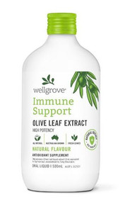 Wellgrove Immune Support Olive Leaf Extract Natural 500ml