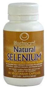 Lifestream Natural Selenium Capsules 90