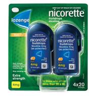 Nicorette Fruitdrops Lozenge 4mg 80 Pack