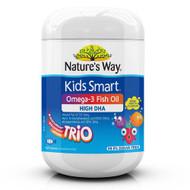 Natures Way Kids Smart Burstlets Omega-3 Fish Oil Trio 180 Capsules