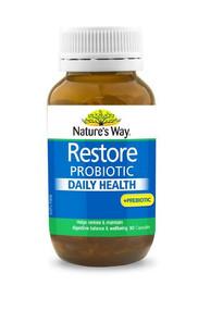 Natures Way Restore Probiotic 90 Capsules + Bonus Probiotic Chocolate Balls