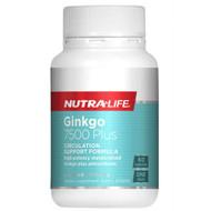 Nutra Life Ginkgo 7500 Plus 60 Capsules