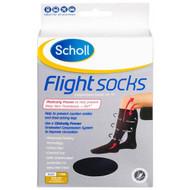 Scholl Flight Socks Men 6-9 Black