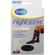 Scholl Flight Socks Mens 9-12 Black
