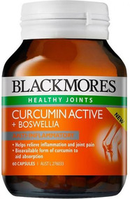 Blackmores Curcumin Active + Boswellia 60 Capsules - discontinued and no longer available