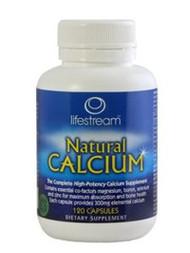 Lifestream Natural Calcium Capsules 120