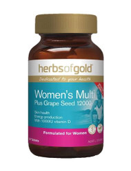 Herbs Of Gold Womens Multi Plus Grape Seed 12000 60 Tablets