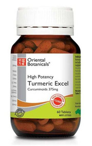 Oriental Botanicals Turmeric Excel 60 Tablets
