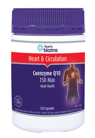 Henry Blooms Co-Enzyme Q10 150 Max 120 Capsules