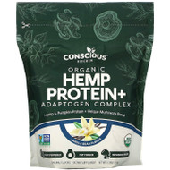 Conscious Kitchen, Organic Hemp Protein+ Adaptogen Complex, Vanilla Bean, 1.0 lbs (454 g),Conscious Kitchen, Organic Hemp Protein+ Adaptogen Complex, Vanilla Bean, 1.0 lbs (454 g)