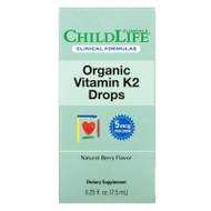 Childlife Clinicals, Organic Vitamin K2 Drops, Natural Berry Flavor , 0.25 fl oz (7.5 ml),Childlife Clinicals, Organic Vitamin K2 Drops, Natural Berry Flavor , 0.25 fl oz (7.5 ml)