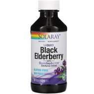 Solaray, Liquid Black Elderberry Extract with SambuActin, 4 oz (120 ml),Solaray, Liquid Black Elderberry Extract with SambuActin, 4 oz (120 ml)