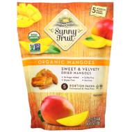 3 PACK OF Sunny Fruit, Organic Mangoes, 5 Portion Packs, 0.7 oz (20 g) Each,Sunny Fruit, Organic Mangoes, 5 Portion Packs, 0.7 oz (20 g) Each