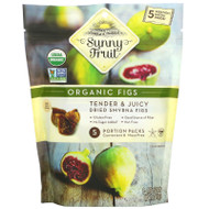 3 PACK OF Sunny Fruit, Organic Figs, 5 Portion Packs, 1.76 oz ( 50 g) Each,Sunny Fruit, Organic Figs, 5 Portion Packs, 1.76 oz ( 50 g) Each