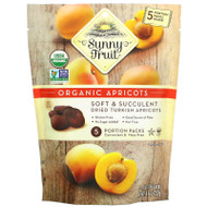 3 PACK OF Sunny Fruit, Organic Apricots, 5 Portion Packs, 1.76 oz (50 g) Each,Sunny Fruit, Organic Apricots, 5 Portion Packs, 1.76 oz (50 g) Each