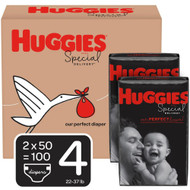 Huggies Special Delivery Baby Diapers Hypoallergenic Size 4 Economy Plus Pack -- 100 Diapers