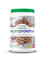 Genuine Health Fermented Vegan Proteins plus Digestive Support Natural Chocolate -- 20 Servings