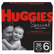 Huggies Special Delivery Baby Diapers Hypoallergenic Size 6 Giga Jr Pack -- 36 Diapers