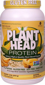 Genceutic Naturals Plant Head Protein Banana -- 30 Servings