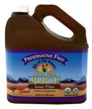 Lily of the Desert Organic Aloe Vera Juice Inner Fillet -- 128 oz