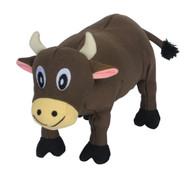 SmartPetLove Tender-Tuff Plump Brown Cow Dog Toy -- 1 Toy