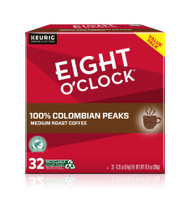 Eight O'Clock 100% Colombian Peaks Coffee K-Cups -- 32 K-Cups