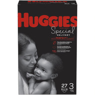 Huggies Special Delivery Baby Diapers Hypoallergenic Size 3 Jumbo Pack -- 27 Diapers