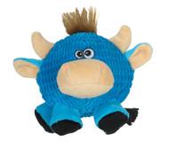 SmartPetLove Tender Tuff Round Blue Cow Dog Toy -- 1 Toy