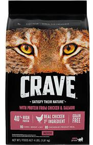 Crave Indoor Adult Cat Food Chicken & Salmon -- 4 lbs