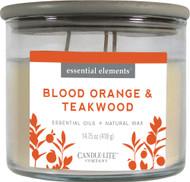 Candle Lite Blood Orange & Teakwood Candle -- 14.75 oz