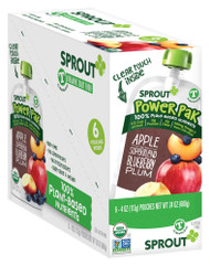 Sprout Organic Baby Food PowerPak Apple with Superblend Blueberry Plum Toddler -- 4 oz Each / Pack of 6