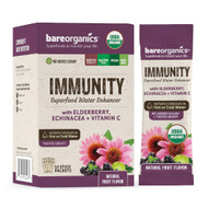 BareOrganics Immunity Blend Superfood Water Enhancer Natural Fruit -- 12 Stick Packets