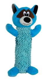 SmartPetLove Tender-Tuff Shaggy Blue Raccoon Dog Toy -- 1 Toy