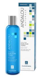 Andalou Naturals Clear Skin Willow Bark Pure Pore Toner -- 6 fl oz